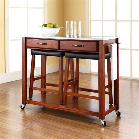 portable kitchen islands with stools 100 stainless steel portable kitchen island