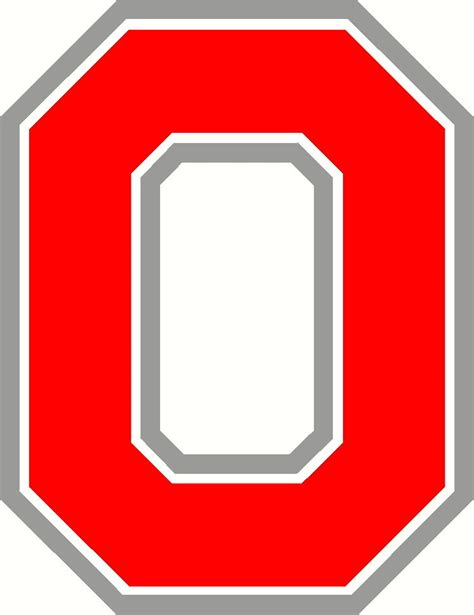 Ohio State Block O Outline ohio state block o vinyl decal sticker and silver ebay