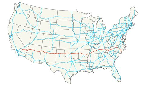 interstate highway map file interstate 40 map png