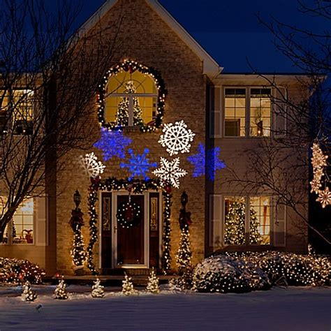 christmas falling snow projectors snow flurry whirl a motion lightshow projection bed bath beyond
