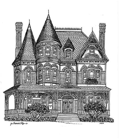 coloring pages victorian houses printable coloring pages for adults victorian houses