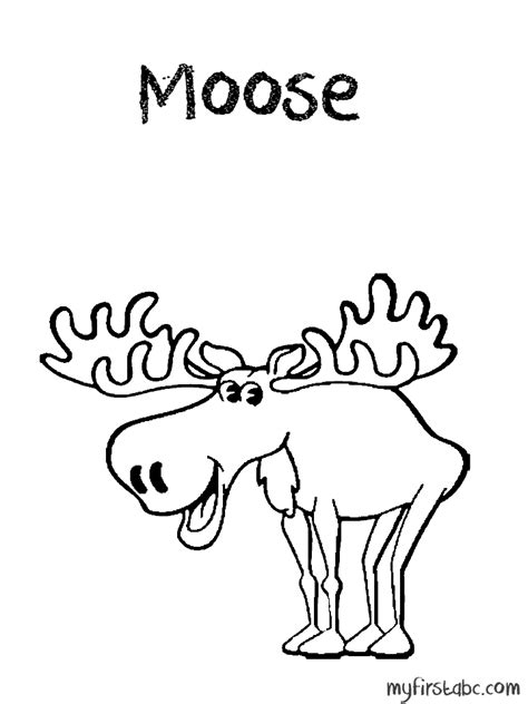 moose coloring pages coloring home