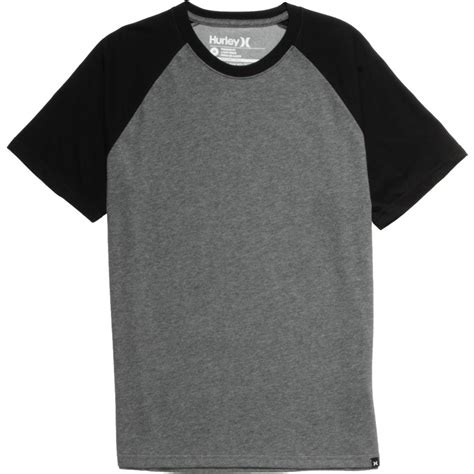 Tshirt Kaos Hurley Black hurley staple dri fit raglan sleeve t shirt s