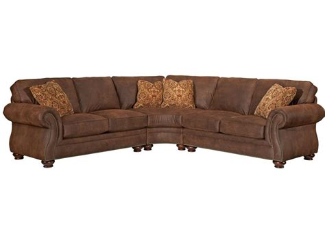 broyhill laramie microfiber sofa in distressed brown broyhill living room laramie sectional 5080 sectional