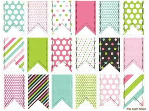 Sale Bunting Flag Hbd Colorful colorful clipart ribbon tags instant commercial
