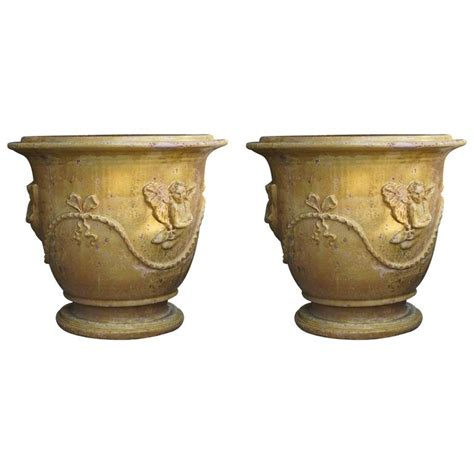 Provence Planters by Pair Of Anduze Planter Pots From Provence For Sale