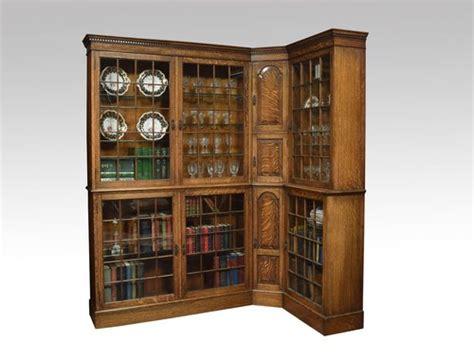 antique corner bookcase oak corner bookcase antiques atlas