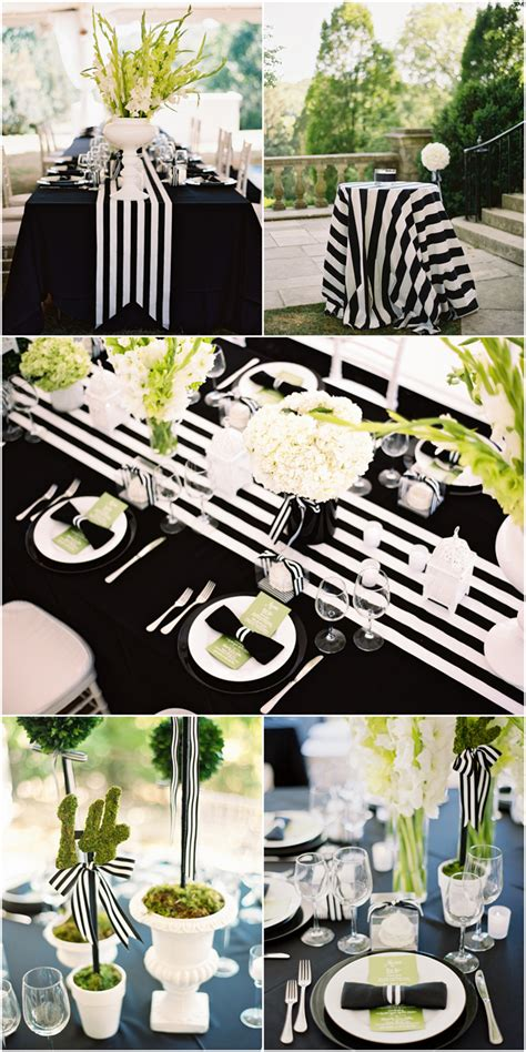 bridal shower decoration ideas black and white my black and white striped wedding pizzazzerie