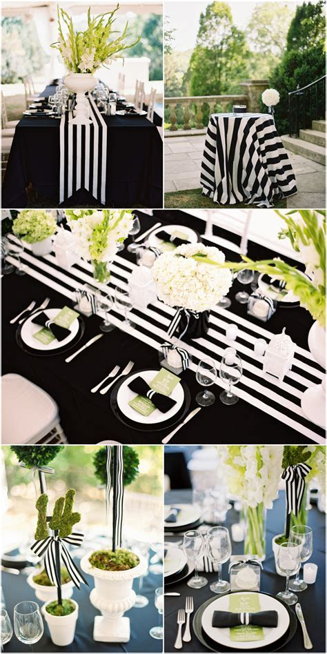 My Black and White Striped Wedding!   Pizzazzerie