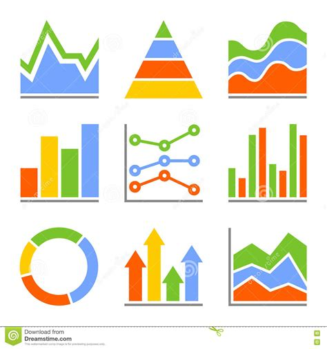 graph and diagram icon set stock vector illustration of graph and charts diagrams infographic set stock vector