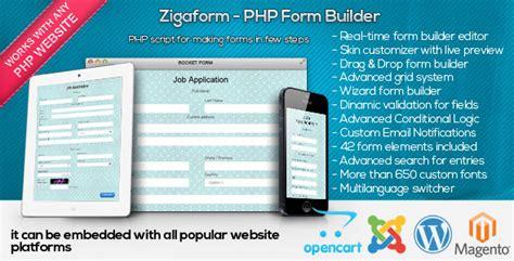 Forms Drag Drop Form Builder V3 4 0 zigaform php form builder contact survey 187 premium