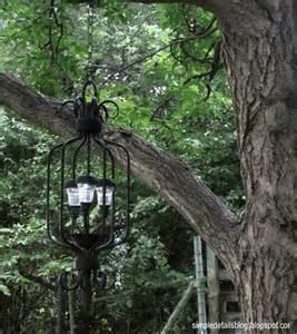 simple details diy outdoor solar chandelier