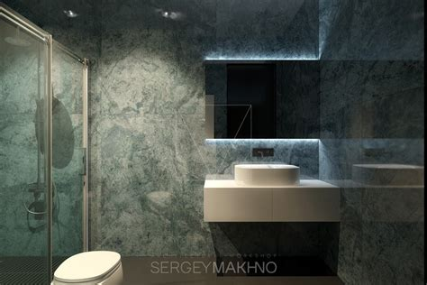green marble bathroom kiev apartment showcases sleek design with surprising playful elements