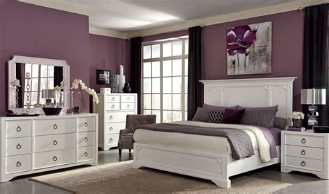 white panel bedroom set furiani white panel bedroom set by donny osmond from