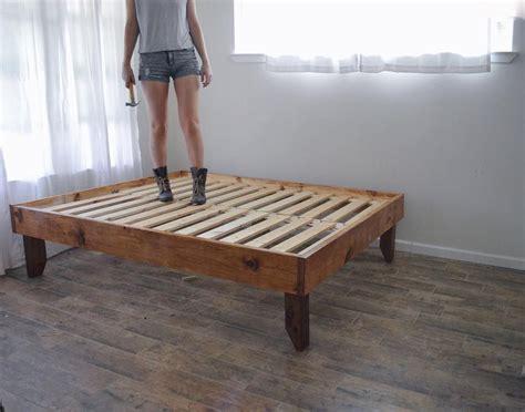 handmade rustic wooden bed frame wood en