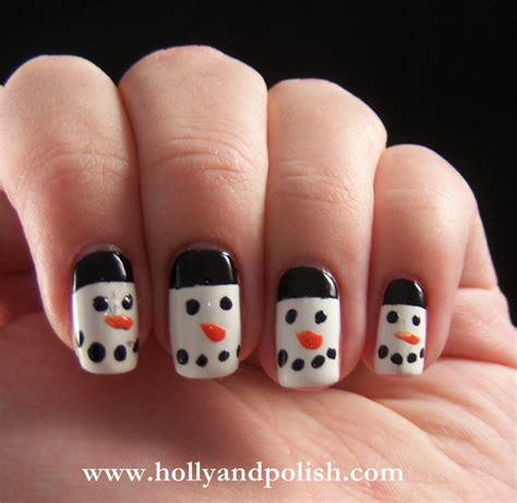 Easy Snowman Nail