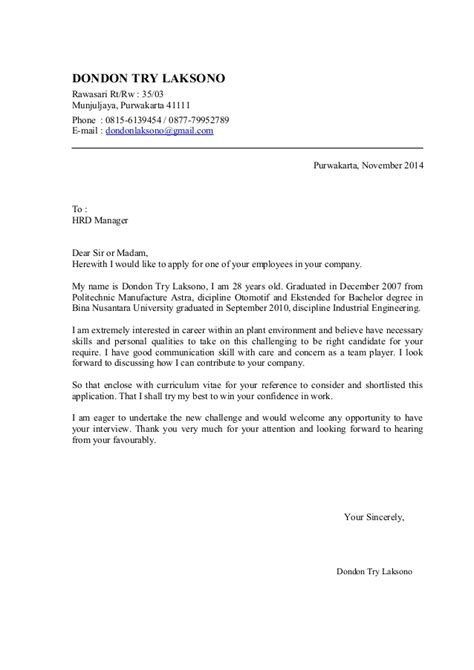 R D Cover Letter cover letter and cv dondon november 2014