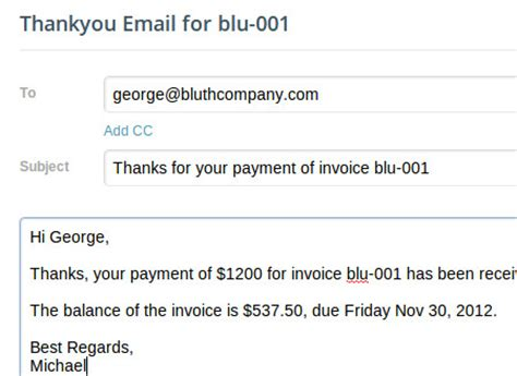 thank you letter to client after receiving payment invoices paid by paypal or credit card 187 paydirt billing