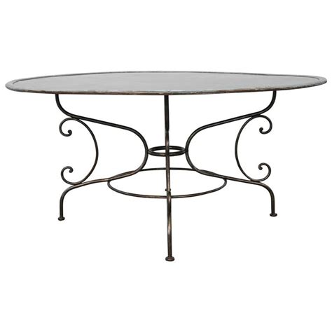 Zinc Bistro Table Zinc Bistro Table For Sale At 1stdibs