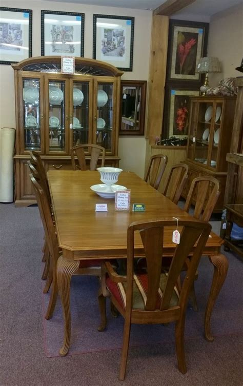 Keller Dining Room Hutch 12 Pc Keller Furniture Solid Oak Complete W Hutch Display