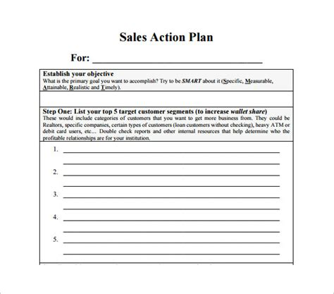 Sales Action Plan Template 12 Free Sle Exle Format Free Download Free Premium Retail Sales Plan Template