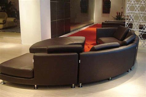 round leather sectional sofa roller espresso leather sectional round sofa leather