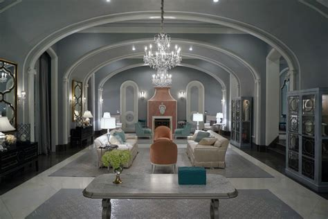Grey Walls Living Room by Finishings To Die For Touring Scream Queens S Kappa Kappa