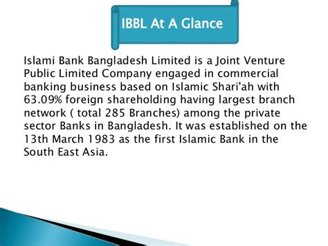 islami bank bangladesh islami bank bangladesh ltd it s overall performance