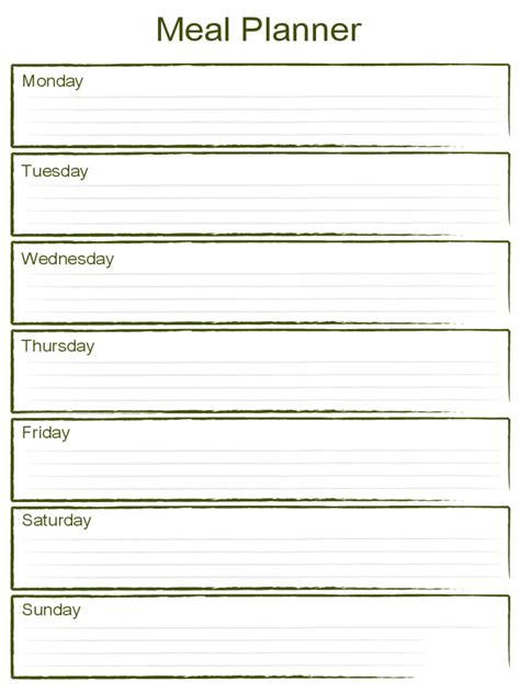 weekly meal planner template meal planner template 7 free templates in pdf word