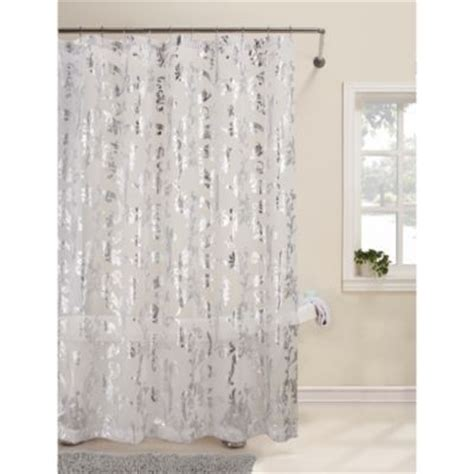 White And Silver Curtains Talia 72 Inch X 72 Inch Shower Curtain Bedbathandbeyond 30 To Be Used As Window