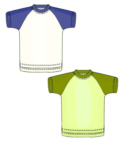 t shirt pattern measurements t shirt with raglan sleeves sewing pattern 7163 made