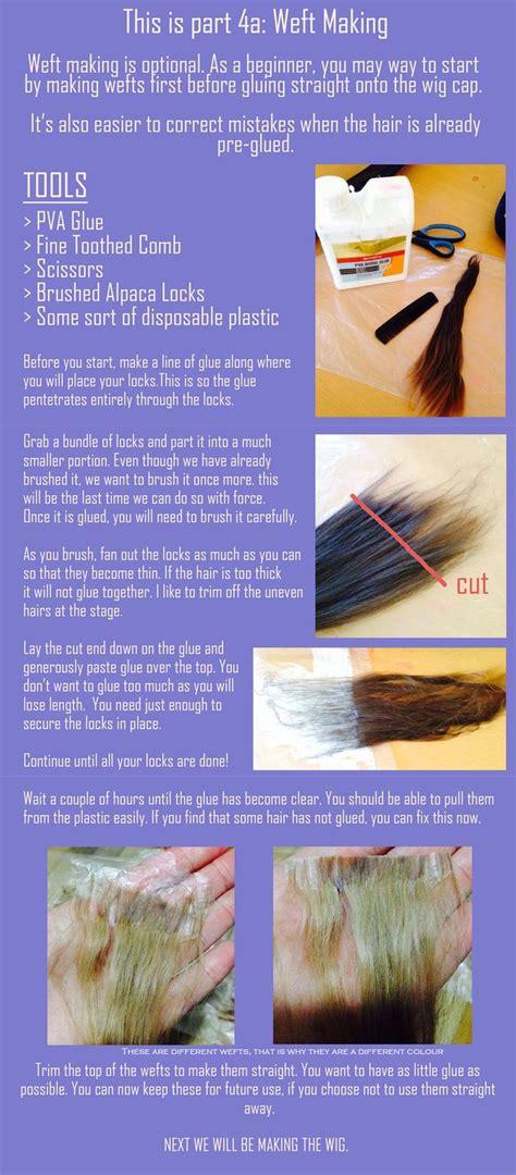 weft tutorial wig making alpaca wefts bjd wig inspiration pinterest