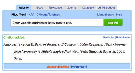 apa format maker for websites easybib mla 8