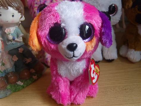 ub dogs ty beanie boos collection big stuff doll 6 inches pink in stuffed