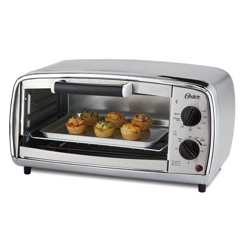 4 Slice Toaster And Toaster Oven Combo Oster 174 4 Slice Toaster Oven Stainless Steel At Oster