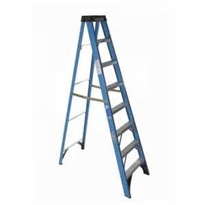 home depot ladders werner werner 8 ft fiberglass step ladder with 250 lb load