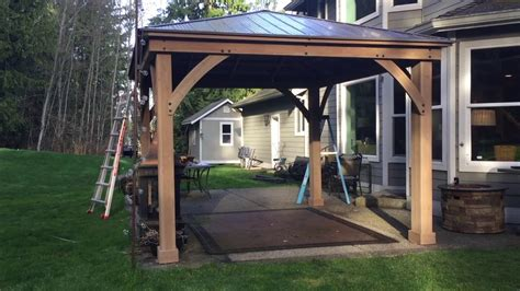 12x12 Wood Gazebo Pt 3 Costco Yardistry 12x14 Wood Gazebo Assembly