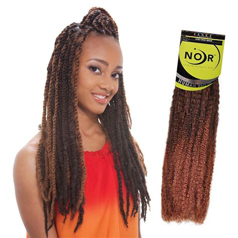 Marley Hair Extensions | janet noir afro twist braid kanekalon synthetic marley