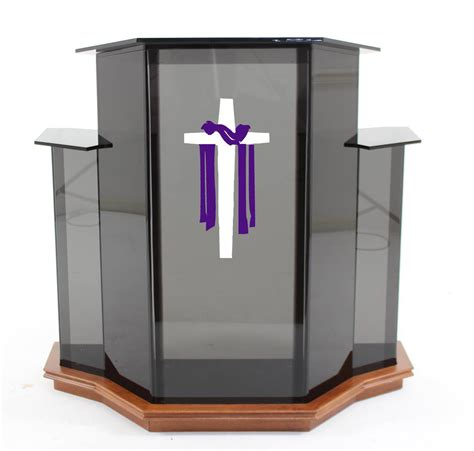 Ordinary Acrylic Podium For Church #1: Smoked_ambassador_pulpit.png