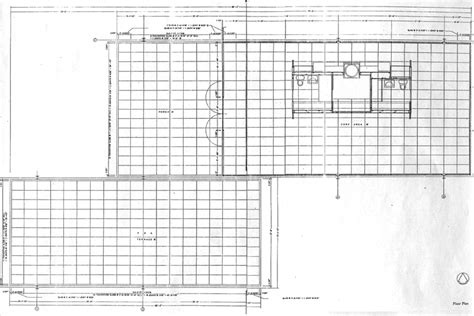 farnsworth house floor plan facsimiles of construction documents