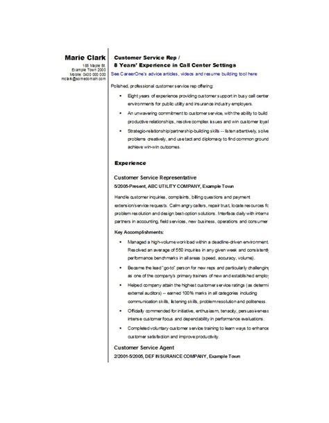 samples resumes for customer service job resume sample resume for