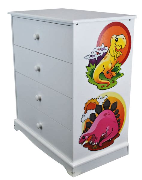 Childrens Chest Of Drawers by Childrens White Chest Of Drawers Dinosaurs Wooden 4