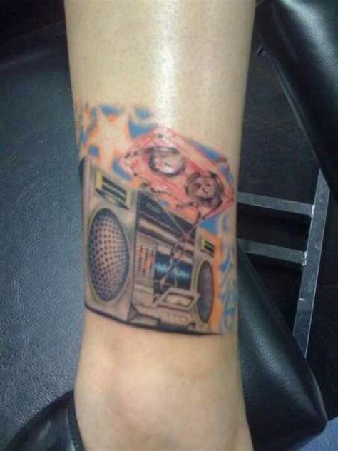 boombox tattoo my awesome boombox ink