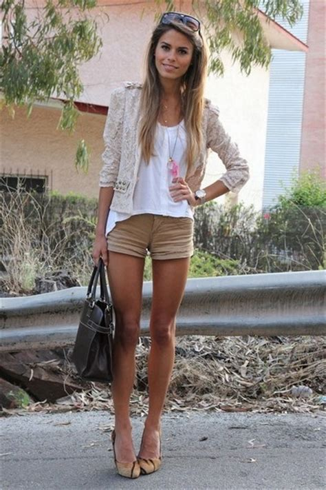 Simple Pink Top kahki shorts white tops quot simple quot by fashionmosaic chictopia