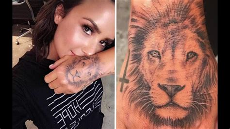 jay park lion tattoo meaning demi lovato gets a new massive lion tattoo youtube