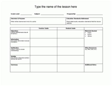 Plan Templates Microsoft Office Templates Microsoft Office Lesson Plan Template