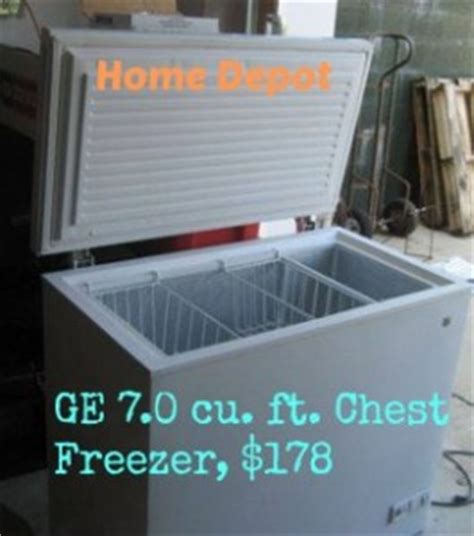 home depot freezer sale ge 7 cu ft chest freezer 178