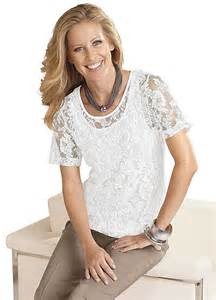 Home short sleeve lace top