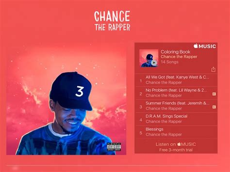 coloring book chance the rapper not on itunes 2016 the year went exclusive the verge
