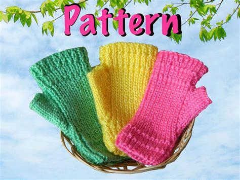 knitting pattern for childrens gloves fingerless gloves knitting pattern